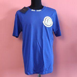 Palm Angels Blue Casual T-Shirt Xlarge
